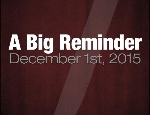 A Big Reminder